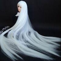 "7-8"" 1/4 BJD Wig Hair Dollfie MSD Doll Long straight White AOD DOD DL DK DZ Luts"