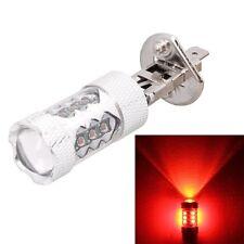 H1 80W 4000LM Red Light 16 XT-E LED Car Fog Light Lamp Bulb for Vehicles, Consta