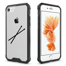 For Apple iPhone X 6 6s 7 8 Plus Clear Shockproof Bumper Case Cover Drum Sticks