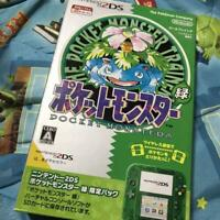 Nintendo 2DS Pokemon Pocket Monster Green Limited Ver Game Console Japan F/S