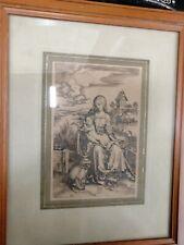 DÜRER Albrecht D'après? 1471 † 1528) La Vierge et l'Enfant GRAVURE SUR CUIVRE ?