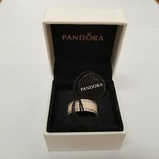 Authentic Pandora Pink Hearts Band Ring - NEW IN BOX, NEVER WORN, TAGS ON