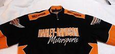 """Authentic"" HARLEY-DAVIDSON MOTORSPORTS *VINTAGE* Embroidered Motorcycle Jacket"