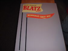 Repro.1950s Blatz Beer Milwaukee's Finest Beer Flags Metal Baseball Bar Display