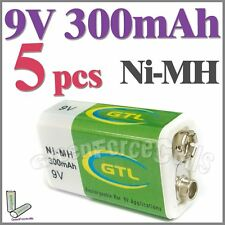 5 x 9V 9.0 V 300mAh Ni-MH Rechargeable Battery PP3 GTL