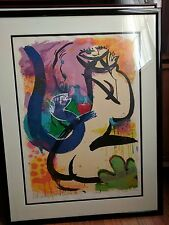 Michael Leu Signed and numbered litho The Old Story with Snake IV dated 1988