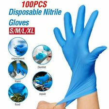 Nitrile Disposable Strong Gloves Powder Latex Free Food Safe Blue BUTCHER SALOON