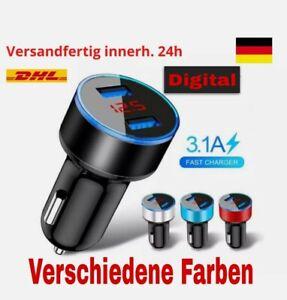 KFZ USB Adapter Ladegerät 3,1A 12V Schnellladegerät Zigarettenanzünder doppel us