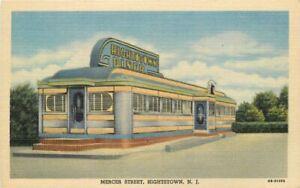 1940s Hightstown New Jersey Diner Linen Roadside Advertising Teich Postcard