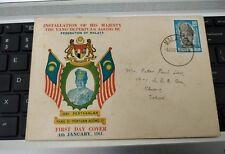 1961 Malaya Malaysia Private FDC Agong Coronation Stamp