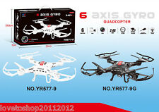 6-Axis Gyro Drone Quadcopter Helicopter Aircraft 2 Speeds 577-9G Black HD Camera