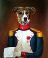 ZWPT1222 fine animal dog portrait handmade painted oil painting art on Canvas