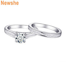 Engagement Ring Set For Women Size 9 Round White Cz 925 Sterling Silver Wedding