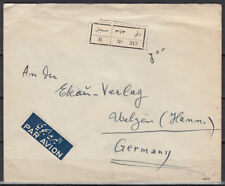 1954 Syria R-Cover Aleppo to Germany [cm899]