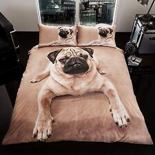 Mops Welpen Tiere Bettbezug & Kissenbezug Set Bettwäsche NEU