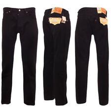 Levi's Uomo 501 Jeans originali Nero 40w x 34l
