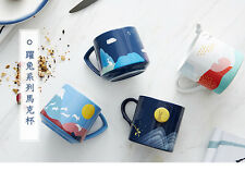 The moon rabbit mug fine china mug original designed ceramic coffee mug tea mug