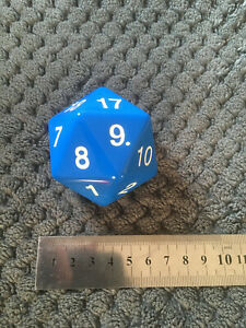 LARGE D20 RPG DICE - USED
