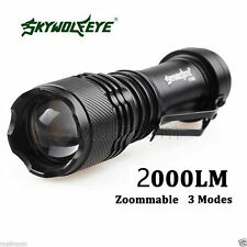 Sky Wolf Eye 2000LM CREE Q5 AA/14500 3Modes ZOOMABLE LED Taschenlampen Torch