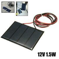 1,5 Watt 12 V Mini Power Solar Panel Kleine Handy Modul Draht Ladegerät DIY B3W6