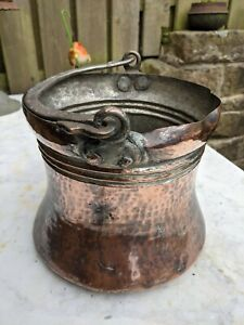 Vintage Copper Planter Trough Tub Plant Pot hanging basket bucket