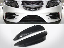 Painted Black Front Bumper Canards Vent Flaps For Mercedes Benz E W213 AMG Sport