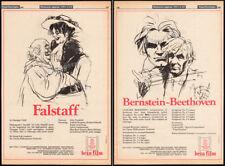 Falstaff_/_Leonard Bernstein - Beethoven_Original 1980 Trade Ad promo / poster