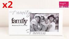 Family White Photo Frame 4x 6in (10x15cm) Aunty Sister Nan Mum Dad Birthday Gift