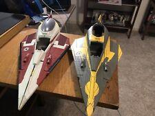 Star Wars Attack of the Clones Jedi Starfighter Parts Lot 2001 Hasbro Incomplete