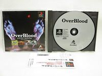 PS1 OVER BLOOD 3D Active with SPINE Card * Playstation Japan Game p1