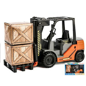 1/12 Boy Gift Forklift Truck Model Car Construction Vehicle Collection Gift Toy