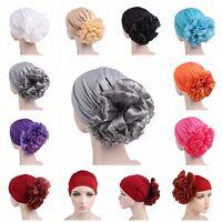 Womens Flower Hat Cancer Chemo Beanie Baggy Cap Islam Turban Hijab Wrap Headwear