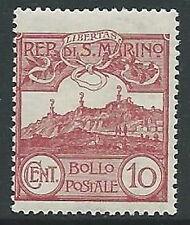 1903 SAN MARINO VEDUTA 10 CENT MNH ** - M18-4