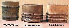 Ancienne céramique fait main précieux shohin bonsai pots-Set 3pcs-ressemble bambou