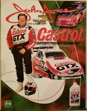 1998 Signed John Force NHRA Handout 7x Champ Castrol GTX 8.5 x 11 Free Shipping