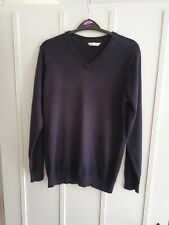 BOYS M&S BLACK SCHOOL JUMPER SIZE 15 - 16 YRS