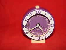 ANCIEN RÉVEIL MÉCANIQUE VIOLET JAPY / HORLOGE PENDULE MOUVEMENT OLD CLOCK ( n°2)