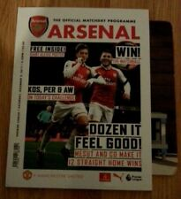 Arsenal vs Manchester United  1-3  02/12/2017 Official Match Programme
