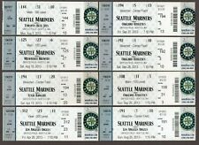 2013 Seattle Mariners Full Unused Ticket Lot of 8 Tickets #3 MINT