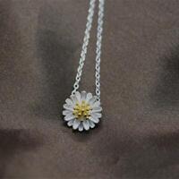 neue schmuck frauen chrysanthemen versilbert kette daisy halskette
