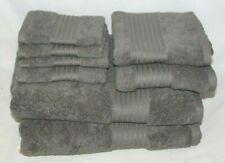 Ralph Lauren Greenwich Pebble Eight Piece Bathroom Towel Set Solid Med. Grey New