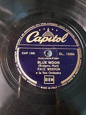 """78 Giri """"Blue Moon""""di Paul Weston Capitol CL 13304"""