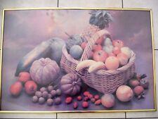 cadre décoratif photo poster cuisine panier de fruits