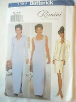 Vintage 2001 Sewing Pattern Long or Short Dress & Jacket Size 12-14-16 Uncut