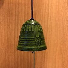 F/S Japanese Furin Wind Bell Chime Temple Bell Cool Tone from Kyoto Japan