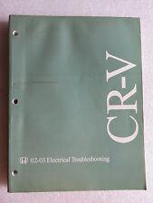 2002-2003 Honda CR-V Factory Service Manual Electrical Wiring Diagram ETM