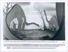 1988 Press Photo Brontosaurus Dinosaurs Land Before Time Animated Movie