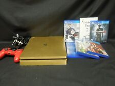 Sony PlayStation 4 Slim 1TB GOLD Console CUH-2015B PS4 *GAME BUNDLE*