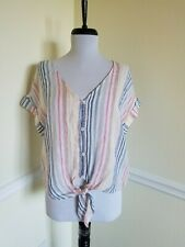 Cloth and Stone by Anthropologie Top Womens Button Down Tie Front Tee - Size S