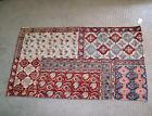 """Vintage Tapestry Rug Red Floral Pattern Boho Southwestern 38"""" x 60"""""""
